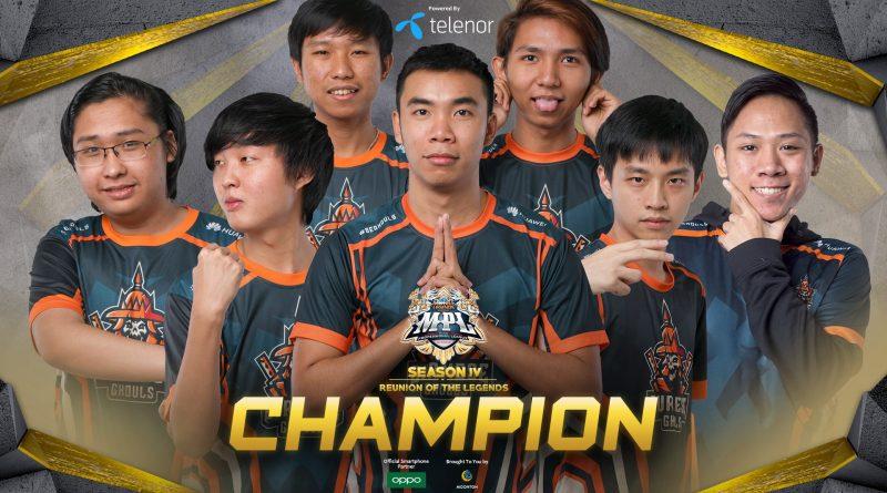 Mobile legends Bang Bang Professional League Myanmar Season 4 ချန်ပီယံဆုကြီးအား Burmese Ghouls အသင်းမှ ဆွတ်ခူး
