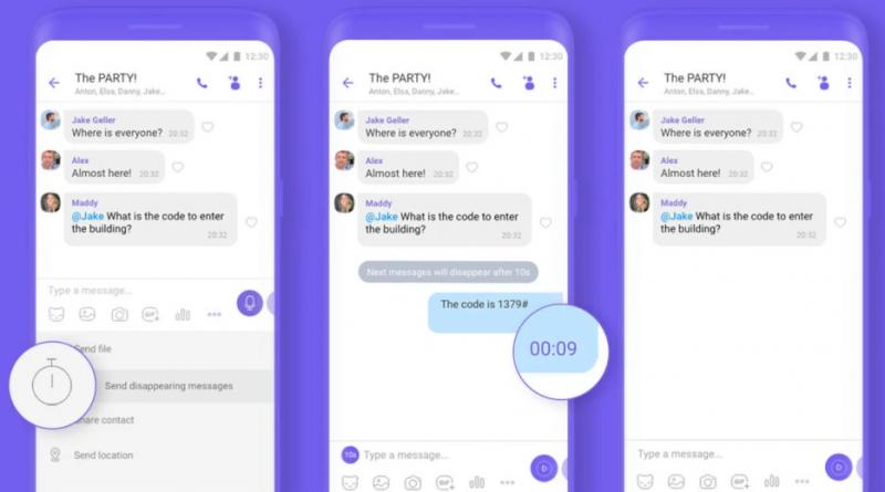 Viber မှ Group Chat များအတွင်း မက်ဆေ့ချ်များ အလိုအလျောက် ပျောက်ကွယ်စေသည့် စနစ်အား ထည့်သွင်း